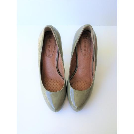 Corso Como Patent Leather Pinch Toe Olive Green Pumps Image 1
