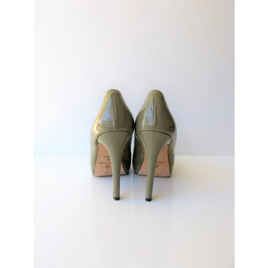 Corso Como Patent Leather Pinch Toe Olive Green Pumps Image 2