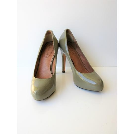 Corso Como Patent Leather Pinch Toe Olive Green Pumps Image 6