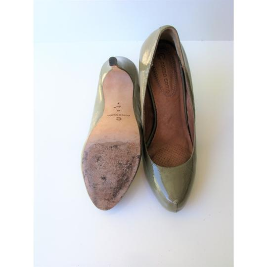 Corso Como Patent Leather Pinch Toe Olive Green Pumps Image 9