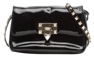 Valentino Rockstud Patent Leather Cross Body Bag