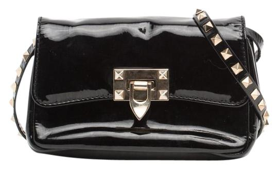 Valentino Rockstud Patent Leather Cross Body Bag Image 0