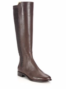 Cole Haan Leather Stretch Riding Brown Boots