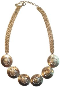 Trifari Vintage Rich 1970's Trifari Gold Bee Medallion Necklace