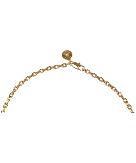 Tory Burch NEW Tory Burch Convertible Lacquered Logo Rosary Necklace in Coral Image 3