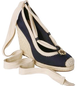 Tory Burch Espadrilles T Logo Tory Espadrilles Navy Wedges