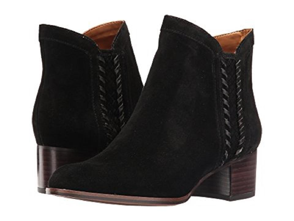 7ec32e07430 Franco Sarto Black Chenille Suede Leather Ankle Boots/Booties Size US 6.5  Regular (M, B) 52% off retail