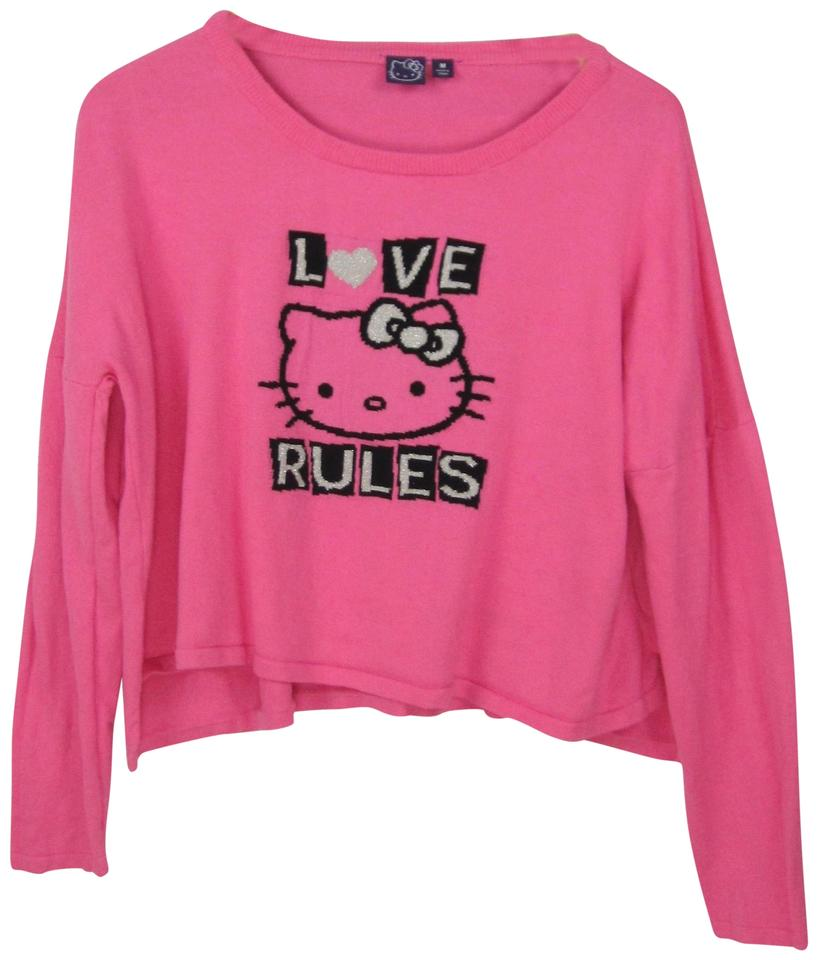 Sanrio Hello Kitty Target Bright Love Rules Hi-low Cotton Knit Pink ... f3460b6838