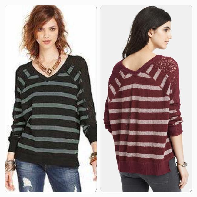 We The Free People Striped Dolman Pointelle Sweater Image 1