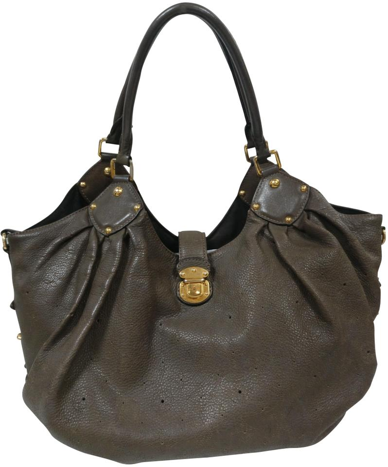 9e95ff524882 Louis Vuitton Mahina Xl with Perforated Monogram Brown Leather Shoulder Bag