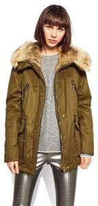 Zara Parka Army Fur Winter Down Coat