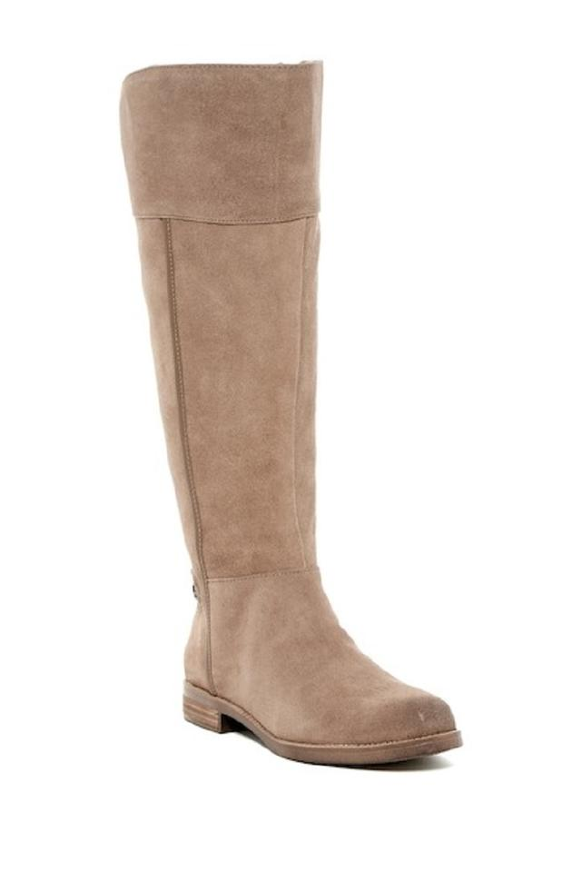 Franco Sarto Tan Caydee Suede Riding Leather Wide Calf Tall Riding Suede Boots/Booties 8a1298