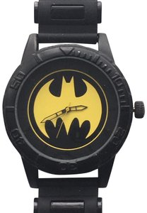 DC Comics DC Comics Black w/Yellow Bat Logo Watch