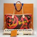 Louis Vuitton Saint Tropez Tahitienne Neverfull Leather Tote in Brown Image 1