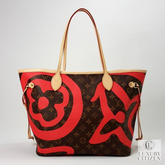 Louis Vuitton Saint Tropez Tahitienne Neverfull Leather Tote in Brown Image 2