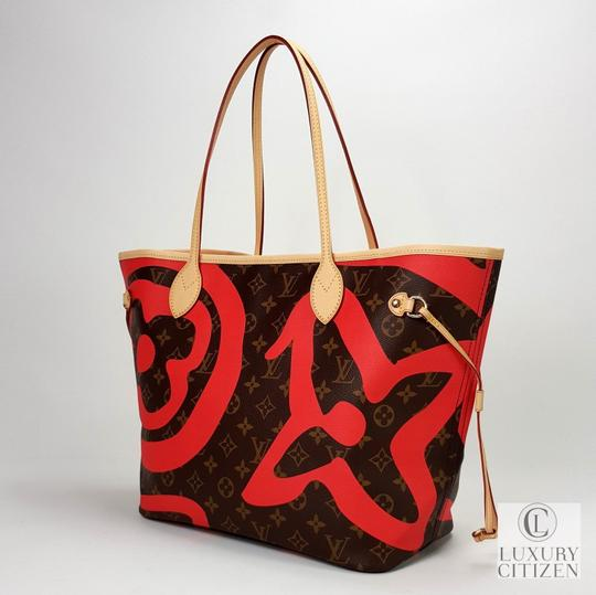 Louis Vuitton Saint Tropez Tahitienne Neverfull Leather Tote in Brown Image 4