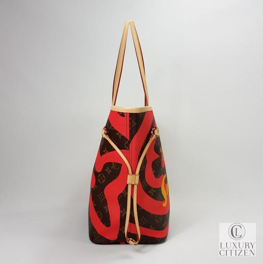 Louis Vuitton Saint Tropez Tahitienne Neverfull Leather Tote in Brown Image 5