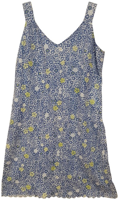 Item - So Blue with While Cafe Fresca Short Casual Dress Size 8 (M)
