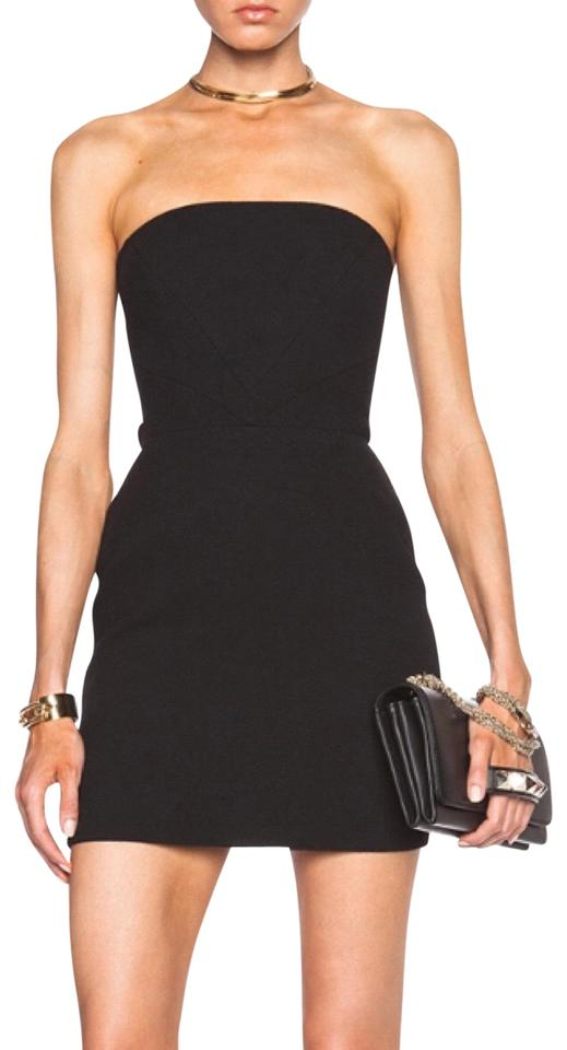 Sass Bide Black The Changeover Strapless Short Cocktail Dress Size