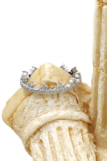 Ocean Fashion Delicate mini crystal ring Image 4