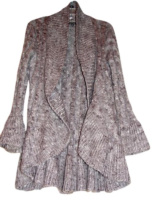 Item - Like New Belled Sleeve Jacket Like New Gray and White Cableknit Sweater