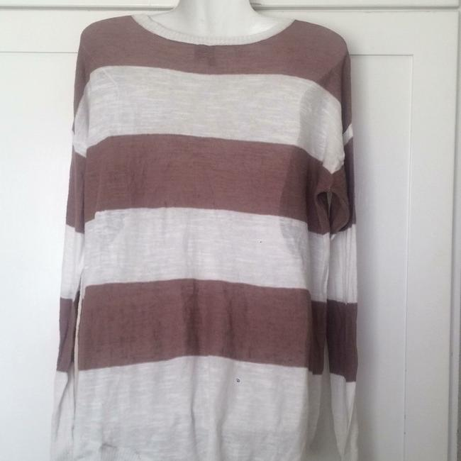 Anthropologie Left Of Center Striped Asymmetric Sweater Image 2