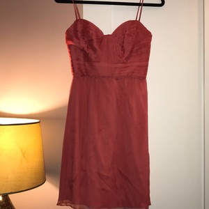 Amsale Bridesmaid Feminine Wedding Dress Size 2 (XS)