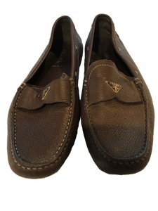 Prada Loafer Leather Brown Flats