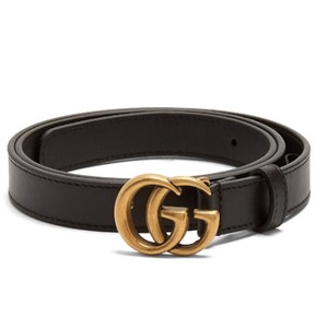 Gucci Brand New Size 85/34 GG-logo 2cm leather belt