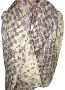Louis Vuitton Louis Vuitton Damier Monogram Cashmere Silk Shawl