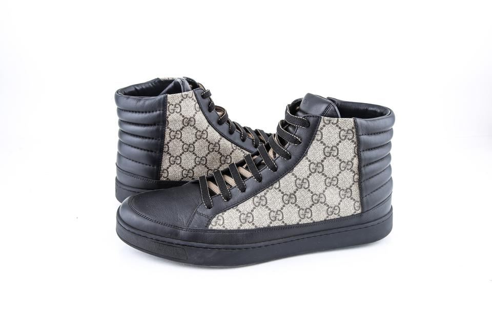 0f16ff2af79 Gucci Black   Gg Supreme High-top Sneakers Shoes Image 0 ...