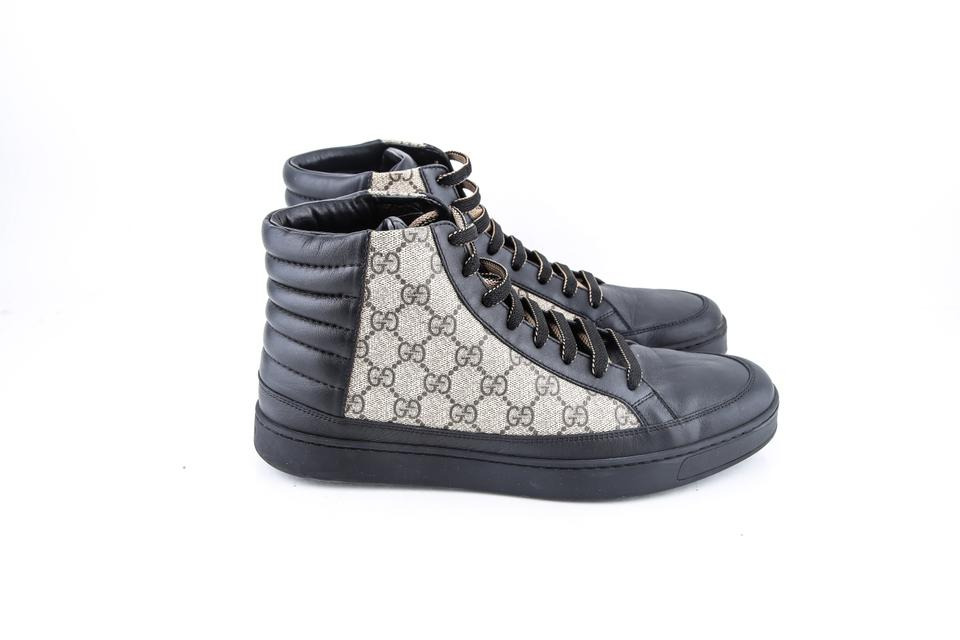 d2cfe81c08f Gucci Black   Gg Supreme High-top Sneakers Shoes Image 7. 12345678