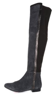 Vince Camuto Suede Leather Stretch Over The Knee Gray Boots