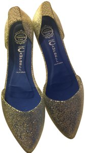 Jeffrey Campbell Jelly Womens clear glitter Flats