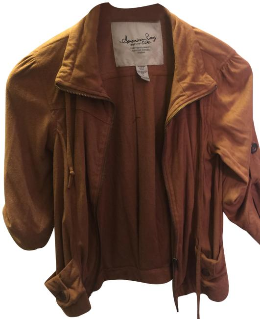 American Rag Womens Suade New camel brown Jacket Image 0