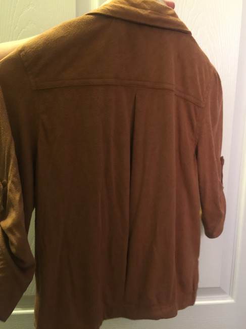 American Rag Womens Suade New camel brown Jacket Image 2