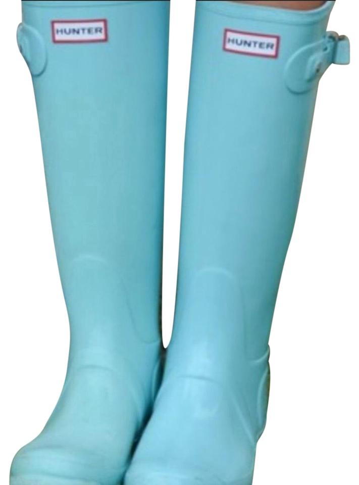hunter tiffany blue rain boots booties size us 11 regular m b tradesy. Black Bedroom Furniture Sets. Home Design Ideas