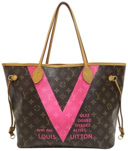 Louis Vuitton Lv Monogram Monogram V Neverfull Canvas Shoulder Bag