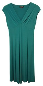 Chaps short dress Teal/Aqua Swing Party A-line V-neck Cap Sleeve Tea Length on Tradesy