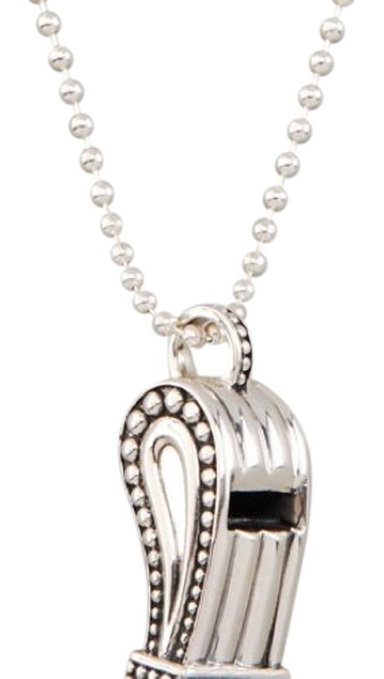 Lagos silver whistle necklace tradesy lagos whistle necklace mozeypictures Images