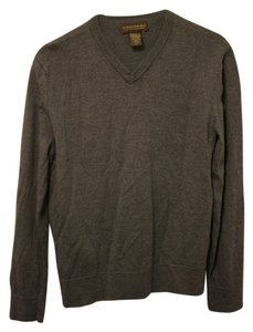 Banana Republic Wool Classic Steele Blue Gray Blue V-neck Longsleeve Blue Knitted Sweater