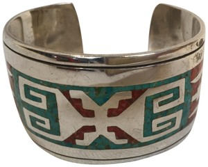 ZCo. Inlayed Sterling Turquoise Bracelet