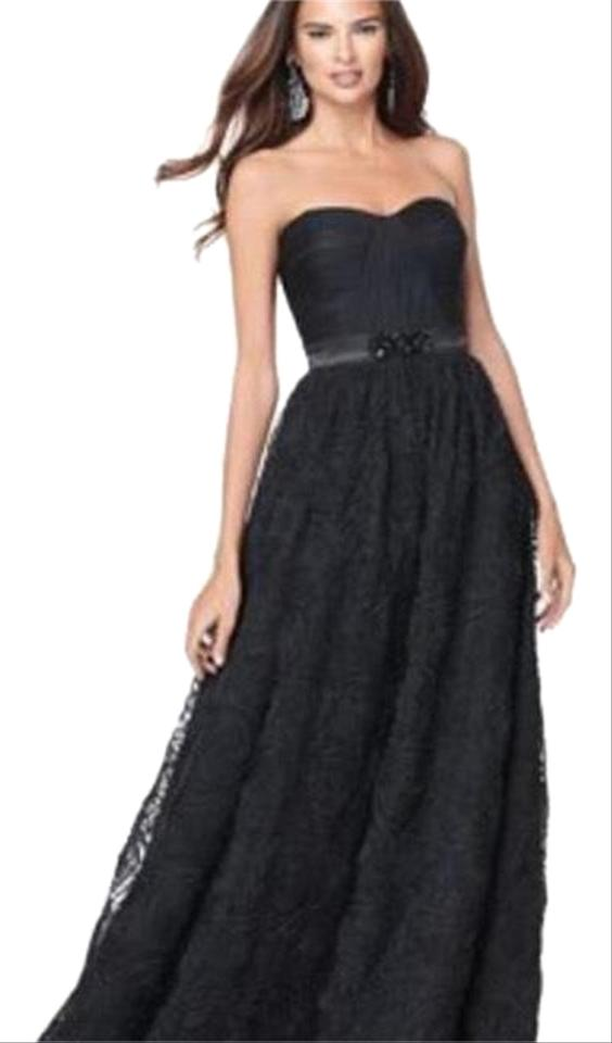 Adrianna Papell Strapless Rosette Tulle Long Formal Dress Size 0 Xs