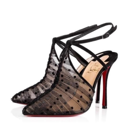 Preload https://img-static.tradesy.com/item/22641921/christian-louboutin-black-acide-lace-mesh-sling-suede-stiletto-pumps-size-eu-385-approx-us-85-regula-0-0-540-540.jpg