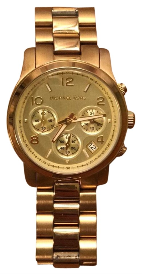 c95f5e059ed8 Michael Kors Gold Mk5055 Chronograph Women Watch - Tradesy