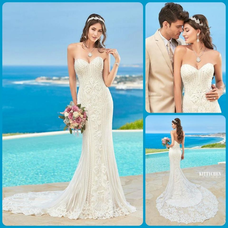 KittyChen Couture Ivory/Champagne Lace Alvina Formal Wedding Dress ...