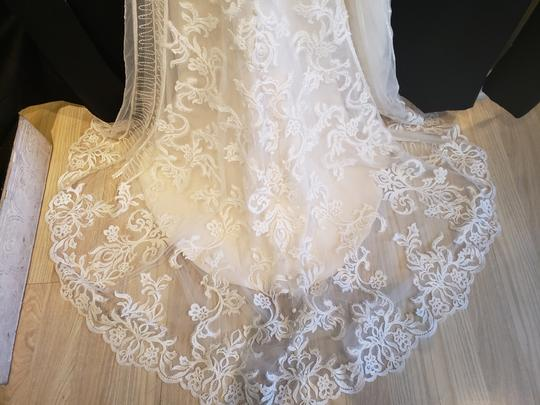 KittyChen Couture Ivory/Champagne Lace Alvina Formal Wedding Dress Size 10 (M) Image 6