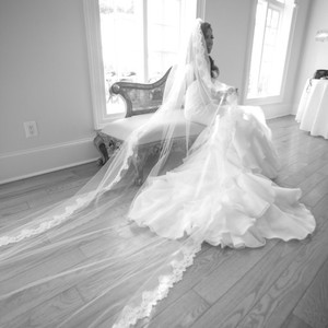 White Long Custom Bridal Veil