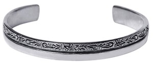NY Collection Vintage Open Cuff Bangle Womens Bracelet Oxidized 925 Sterling 7mm