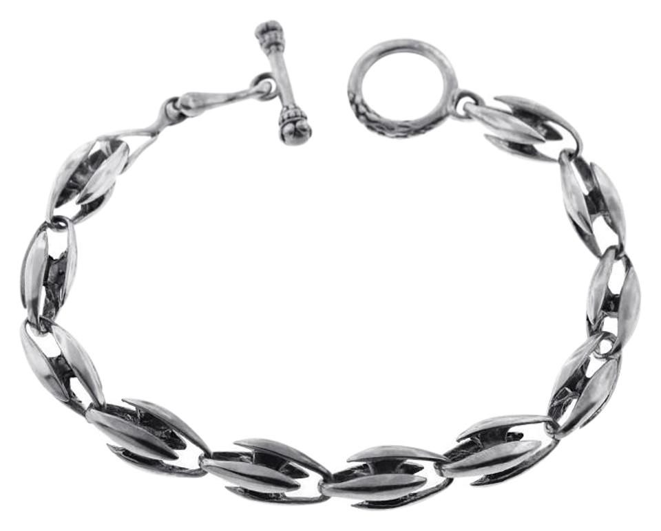 Ny Collection Mens Vintage Bullet Toggle Clasp Bracelet Oxidized Sterling Silver 8